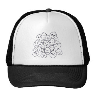 What's so Funny? Cartoon faces Trucker Hat