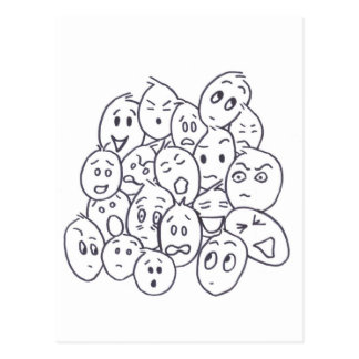 What's so Funny? Cartoon faces Postcard