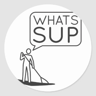 Whats SUP Sticker
