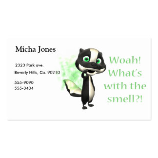 Whats That Smell Skunk Double-Sided Standard Business Cards (Pack Of 100)