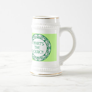What's the Craic? 18 Oz Beer Stein
