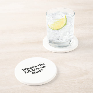 Whats the IBUS on that? Beverage Coasters