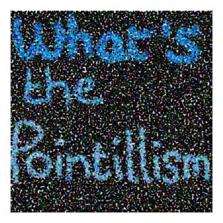 what's the pointillism poster