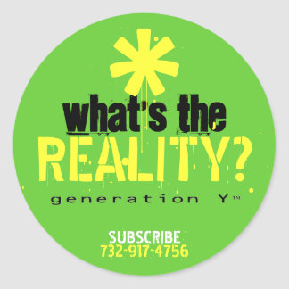 What's The Reality? Sticker
