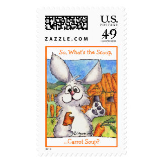 What's the Scoop, Carrot Soup Custom Stamps