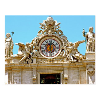 What's the time in St. Peters Square? Postcard