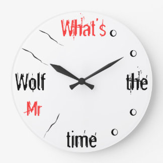 What's the Time Mr Wolf Wall Clock Clocks