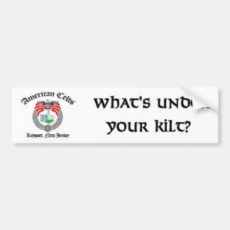 What's Under Your Kilt?  Bumper Sticker