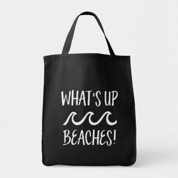 What's Up Beaches funny bag