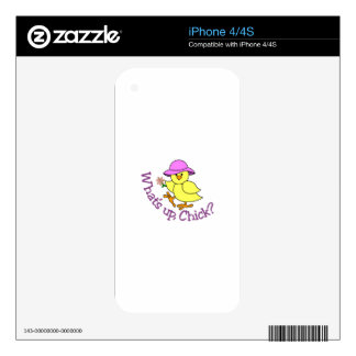 Whats Up Chick iPhone 4 Decals