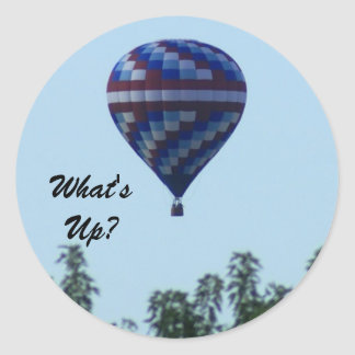 What's Up? Classic Round Sticker