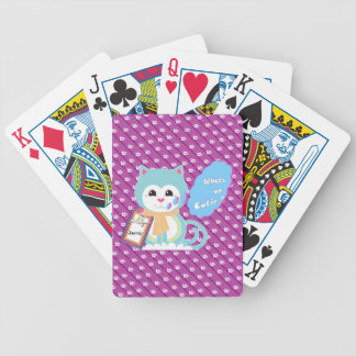 What's up cutie bicycle card decks