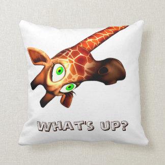 Whats up giraffe pillow