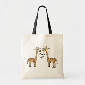What's up? Giraffe totebag Bags