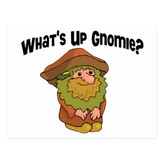 What's Up Gnomie Postcard