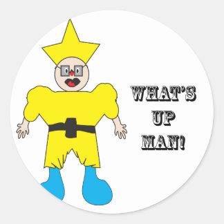 What's Up Man.ai Classic Round Sticker