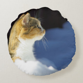 Whats Up? Round Pillow