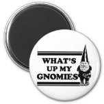 What's Up My Gnomies 2 Inch Round Magnet