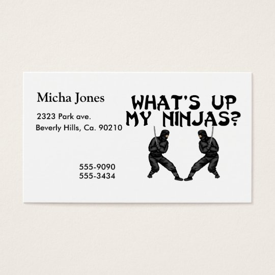What's Up My Ninjas Business Card
