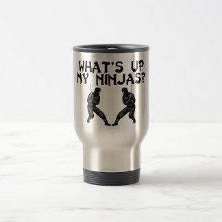 What's Up My Ninjas 15 Oz Stainless Steel Travel Mug
