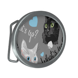 What's up? oval belt buckle