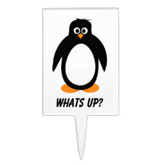 What's Up Penguin Topper Cake Toppers