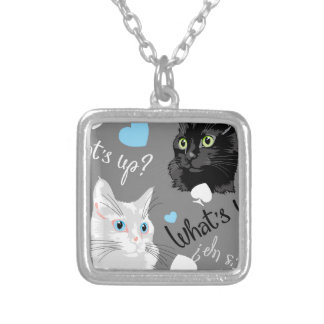 What's up? silver plated necklace