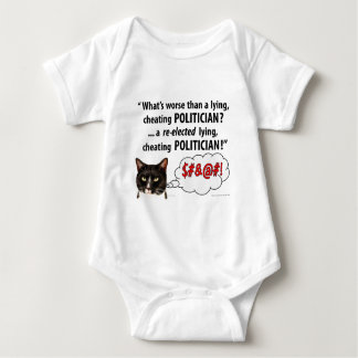 What's worse than a Lying, Cheating Politician? Baby Bodysuit