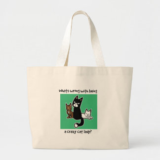 Whats wrong with being a crazy cat lady canvas bag