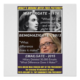 WHAT'S WRONG WITH THIS PICTURE? Hillary vs. Nixon Poster
