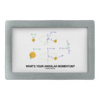 What's Your Angular Momentum? (Physics Diagrams) Rectangular Belt Buckles