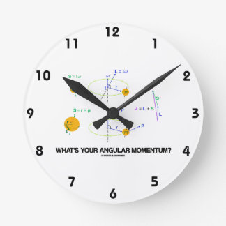 What's Your Angular Momentum? (Physics Diagrams) Wall Clock