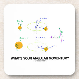 What's Your Angular Momentum? (Physics Diagrams) Drink Coaster