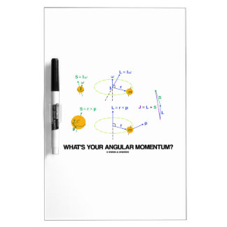 What's Your Angular Momentum? (Physics Diagrams) Dry-Erase Whiteboard