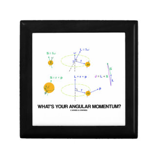 What's Your Angular Momentum? (Physics Diagrams) Jewelry Boxes