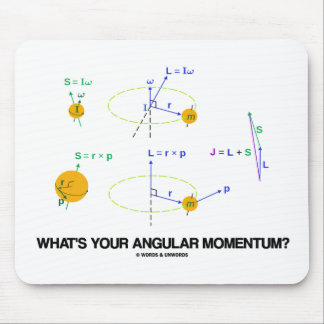 What's Your Angular Momentum? (Physics Diagrams) Mouse Pad