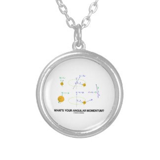 What's Your Angular Momentum? (Physics Diagrams) Personalized Necklace