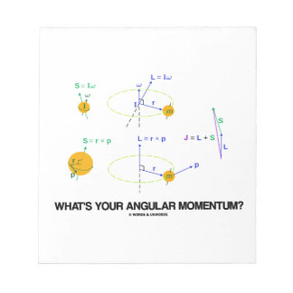 What's Your Angular Momentum? (Physics Diagrams) Memo Pads
