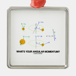 What's Your Angular Momentum? (Physics Diagrams) Christmas Tree Ornament
