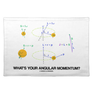 What's Your Angular Momentum? (Physics Diagrams) Placemats
