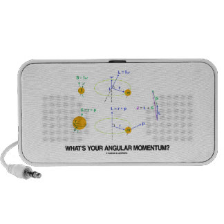 What's Your Angular Momentum? (Physics Diagrams) Portable Speaker