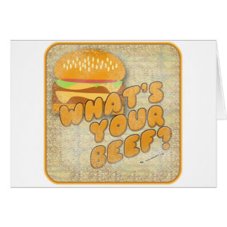 What's Your Beef? Greeting Cards