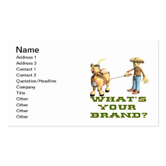 Whats Your Brand Business Card Templates