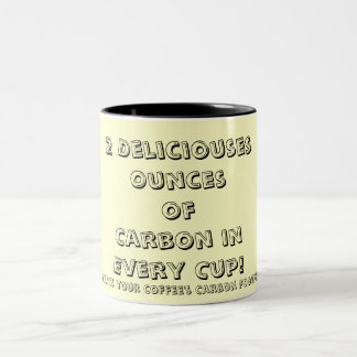 Whats your coffee's Carbon Footprint? Two-Tone Coffee Mug