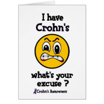 What's Your Excuse...Crohn's Card