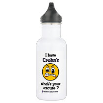 What's Your Excuse...Crohn's Stainless Steel Water Bottle
