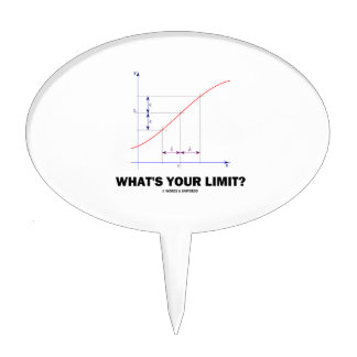 What's Your Limit? Limit Function Geek Humor Cake Topper