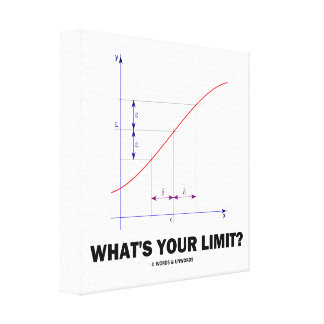 What's Your Limit? Limit Function Geek Humor Canvas Print