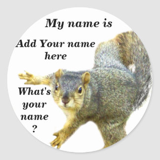 What's Your Name_ Sticker