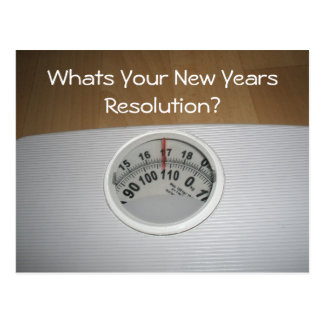 Whats Your New Years Resolution? Postcard